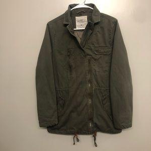 H&M Logg military field jacket green